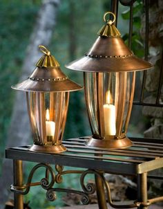 Six Sided Garden lanterns.  From hpotter.com