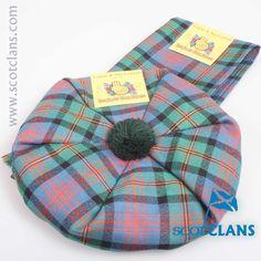 Logan / Maclennan Ancient Tartan Tam and Scarf Set. Free worldwide shipping available