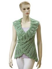 Crochet Clothing Downloads - Gourmet Crochet Uptown Downtown Shrug Pattern