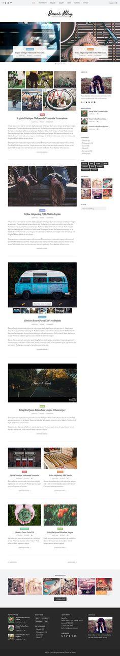 Juno - Photography & Magazine Site Template #bestof2017 #photographythemes #wordpressthemes #photographer #fashion #photogallery
