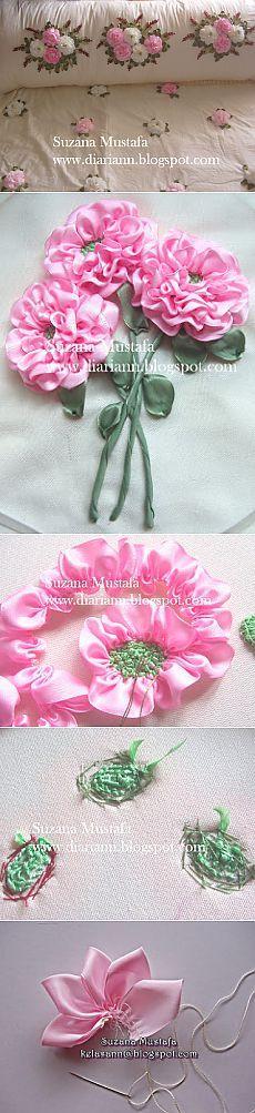 МК по вышивке лентами от Сюзаны Мустафы.