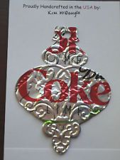 Recycled Diet Coke Lime Soda Can Embossed Traditional Christmas Ornament