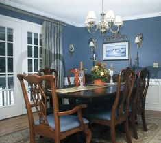 paint colors for dining room with chair rail | dining room paint ...