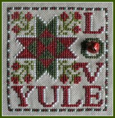 Yule Love (w/chms) is the title of this cross stitch pattern from Hinzeit.