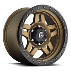 """17"""" Fuel Anza D583 Bronze Wheels Jeep Wrangler JK 33"""" FUEL AT Tires Package.. Yes with Tires"""