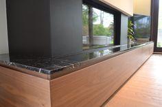 #tv furniture #modern #walnut #veneer #blackmarble #detail