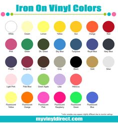 com com com t shirt iron on vinyl by the sheet in 32 fun colors best prices for iron on vinyl - Cricut Vinyl Colors