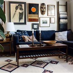 Dark blue couch. Microfiber?