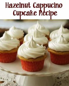 Delicious cappuccino cupcakes with easy to make 7 minute frosting  Her site has delicious cupcake
