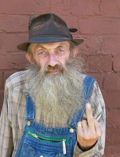 a real hillbilly, lived the hillbilly life died for what he loved moonshining ;o)