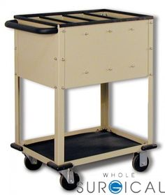 Techno-Aide - CRC-45 - Top Loading Cr-Plate Cart, 4-Compartments