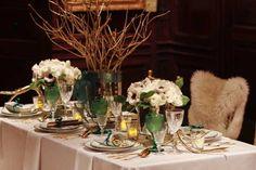 19 tischdekoration hochzeit gruen golden elegant blume Hochzeitsfarben   Hochzeit in Grün, Hoffnung und Neuanfang