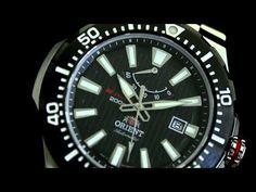 Orient M-Force Automatic Scuba Black Dive Watch with Power Reserve Meter #EL07002B