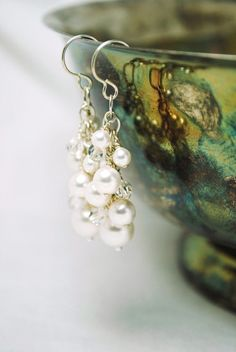 I love the way these earrings were styled for this photograph.
