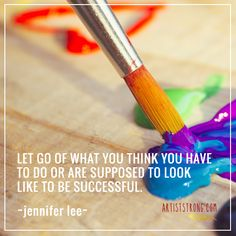 """Have you sometimes felt a pressure to do your art or act a certain way as an artist? Creative Spirit Jennifer Lee says, """"creativity is an authentic expression of your true self."""" So, how can you navigate the external pressures you face with the internal calling and direction you feel in your art? Jennifer tells us to let go of those """"supposed to's"""" and """"should's"""" to start living the lives we really want. Meet Jennifer and learn about her work with creatives here."""