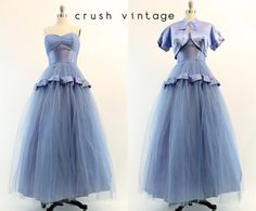 50s Fred Perlberg Dress Small / 1950s Vintage Tulle Party Gown and Bolero / Starlit Serenity Gown