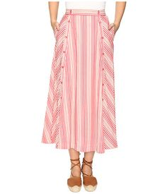 Jack by BB Dakota Norman Varigated Stripe Button Front Skirt