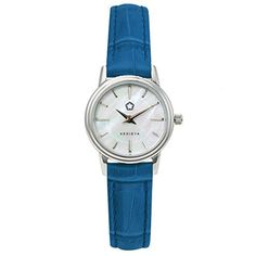 KEDIEYA Mother of Pearl Dial Blue Genuine Leather Waterproof Womens Watches ** Be sure to check out this awesome product.