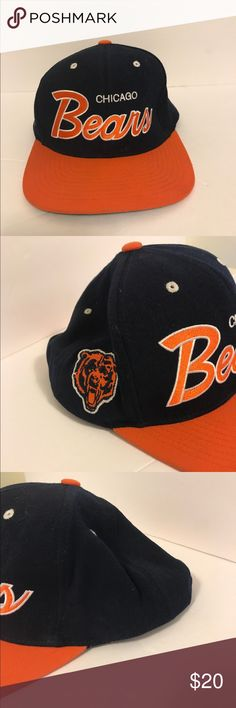 Chicago Bears vintage  Mitchell & Ness snapback Clean! Has light fading on the brim (seen in picture) Mitchell & Ness Accessories Hats