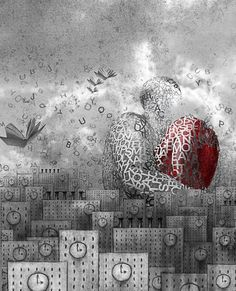 Create a Surrealistic City Scene From Drawings And Photos