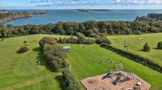 Fun and games in great Pembrokeshire outdoors! Celtic Haven Resort near Tenby on the south west Wales coast...