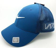 11beae1304e01 Nike golf rzn vapor dri-fit flexfit teal blue mesh hat cap (medium-large)  -- new