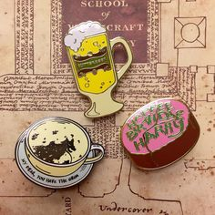 """Mi piace"": 2,409, commenti: 7 - Harry Potter ⚯͛ (@hpfashion934) su Instagram: """"My Dear, You Have The Grim!"" Grim Teacup, Butterbeer and Harry's Birthday Cake enamel pins from…"""