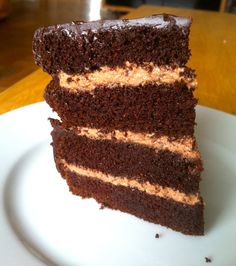 Chocolate whipped cream filled cake topped with chocolate Ganache.