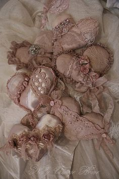 shabby chic heart pillows | create heart sachets or pillows using antique and vintage fabrics and ...