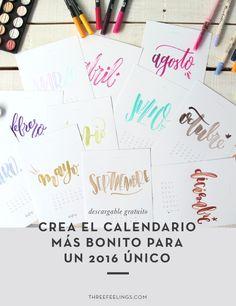 DESCARGABLE GRATUITO: Crea el calendario para un 2016 único