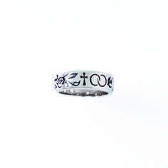 Sterling Silver Ladies' Cross Christian Ring - Wedding Symbols on SonGear.com - Christian Shirts, Jewelry