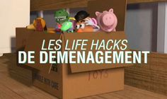 Les life-hacks de déménagement - Topito Organiser Planning, Birthday Calendar, Moving House, Budget Planner, Study Notes, Life Organization, Toy Chest, Storage Chest, Sweet Home