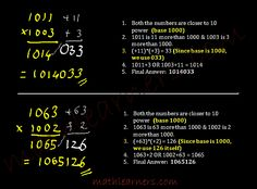 Shortcut tto multiply numbers which are closer to power of 10.     mathlearners.com