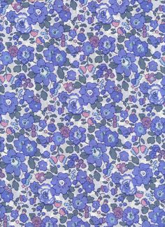 Liberty Tana Lawn fabric Betsy in Blue 6x27 by MissElany on Etsy, $4.20