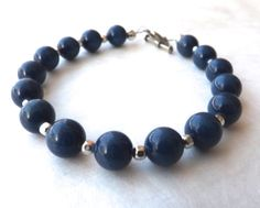Hey, I found this really awesome Etsy listing at https://www.etsy.com/listing/179202497/blue-porcelain-bracelet-with-bali-silver