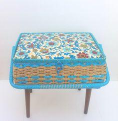 Singer Sewing Basket With Legs Vintage Sewing Basket by Pesserae