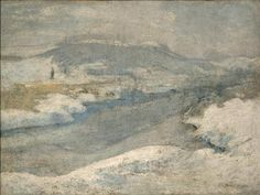 07.4; Twachtman, John Henry; River in Winter, c. 1890-1900 Carnegie Museum of Art