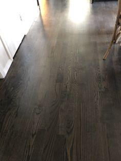 Hardwood Floor Stain Colors, Staining Wood Floors, Dark Hardwood, Oak Hardwood Flooring, Floor Colors, Red Oak Stain, Red Oak Floors, Vinyl Planks, Vinyl Plank Flooring