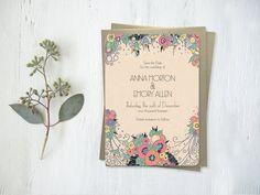 Vintage Inspired Wedding Invitations - Art Deco – Vintage Wedding Invitations & Art Deco Save the Dates by GoGoSnap!