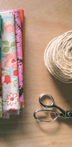 41 Amazing Free People-Inspired DIYs-fabric strip garland