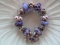 Lavender Bracelet. This is not my Trollbead bracelet, but I think it is lovely.cs