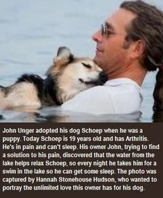 Tender Moment Between Man And His Sick Dog
