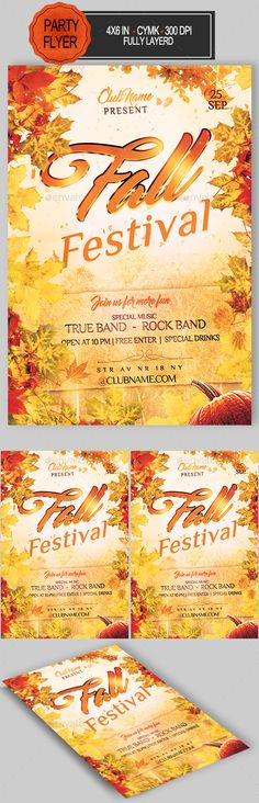 Fall Festival Flyer Template Printable Flyers In Word Fall - free holiday flyer templates word