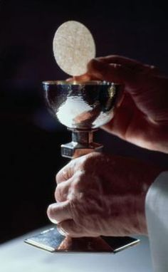 Spiritual Communion Prayer:  My Jesus, I believe that You are present in the Most Holy Sacrament.   I love You above all things, and I desire to receive You into my soul.   Since I cannot at this moment receive You sacramentally, come at least spiritually into my heart.  I embrace You as if You were already there and unite myself wholly to You.  Never permit me to be separated from You.