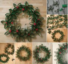 Decorar la Casa en Navidad con Rollos de Papel, Cartón - Decoration Christmas Natal by artesydisenos.blogspot.com