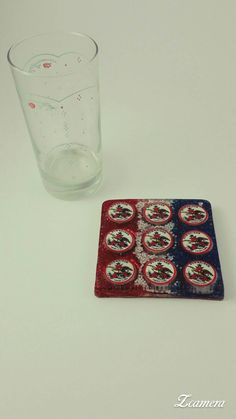 Check out this item in my Etsy shop https://www.etsy.com/listing/474163264/patriotic-bottle-cap-resin-coaster-with