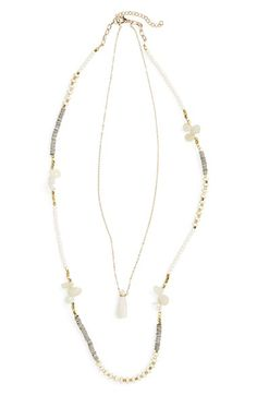 Panacea Crystal Stone Layered Necklace available at #Nordstrom