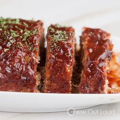 This BBQ Turkey Meatloaf is juicy, tender, and packed full of flavor.  The BBQ sauce takes it over the top!!