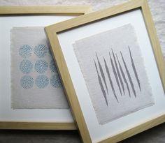 fabric printed art
