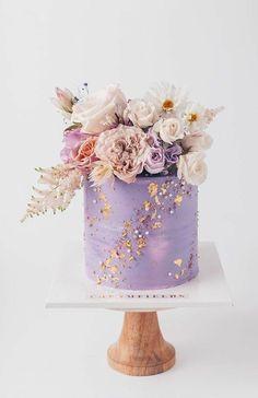 Elegant Birthday Cakes, Pretty Wedding Cakes, Beautiful Birthday Cakes, Gorgeous Cakes, Pretty Cakes, Cute Cakes, Amazing Cakes, Cake Wedding, Birthday Cake With Flowers